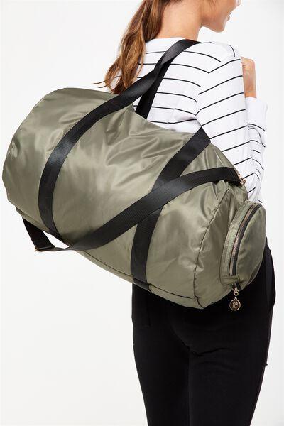 Athens Foldable Duffle Bag, KHAKI