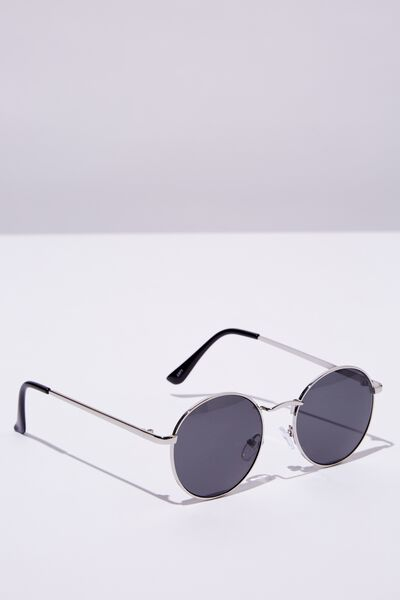 Emmi Metal Frame Sunglasses, SILVER