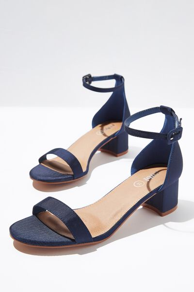 Lizzie Low Block Heel, NAVY