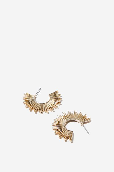 Cassie Baroque Earring, GOLD