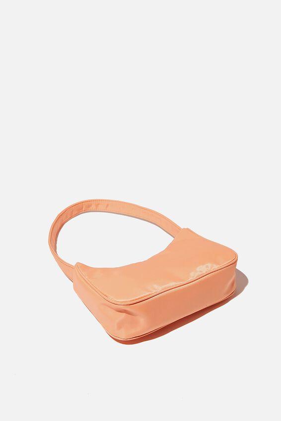 Nylon Underarm Bag, SUMMER MANGO
