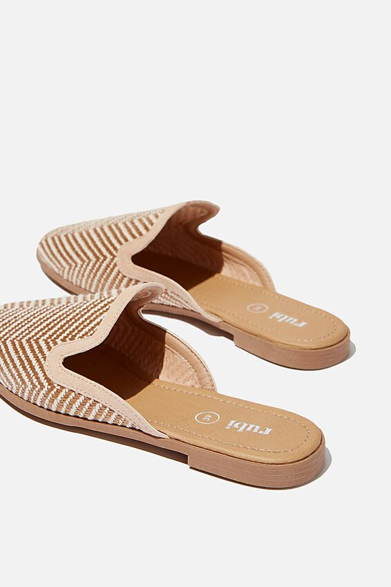 Shade Raffia Mule, BLUSH NEUTRAL ZIG ZAG