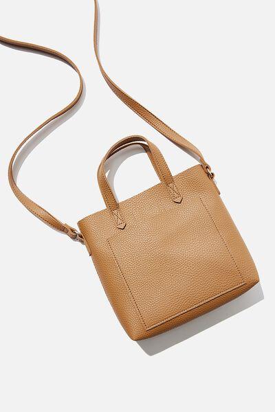Monique Mini Cross Body Bag, TAN