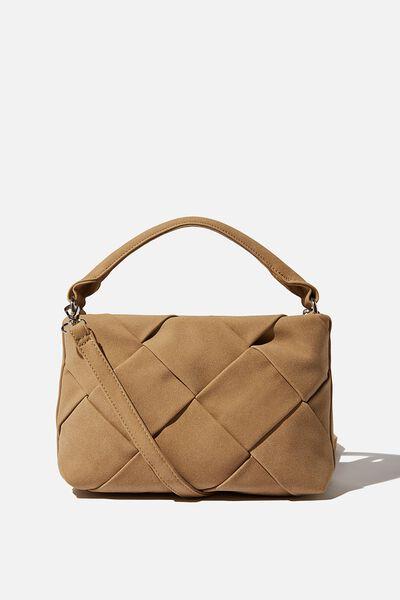 Heidi Quilted Bag, SANDSTONE NUBUCK