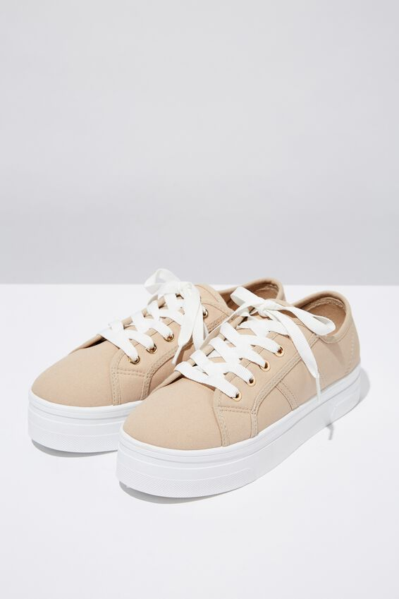 Willow Platform Sneaker, PALE TAUPE CANVAS