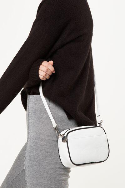 Cameron Cross Body Bag, WHITE