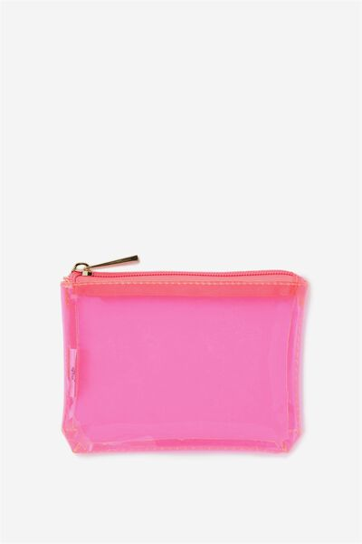 Crystal Clear Coin Purse, PINK
