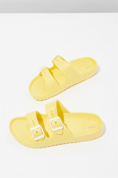 Gilmore Double Buckle Slide, SUNSHINE YELLOW