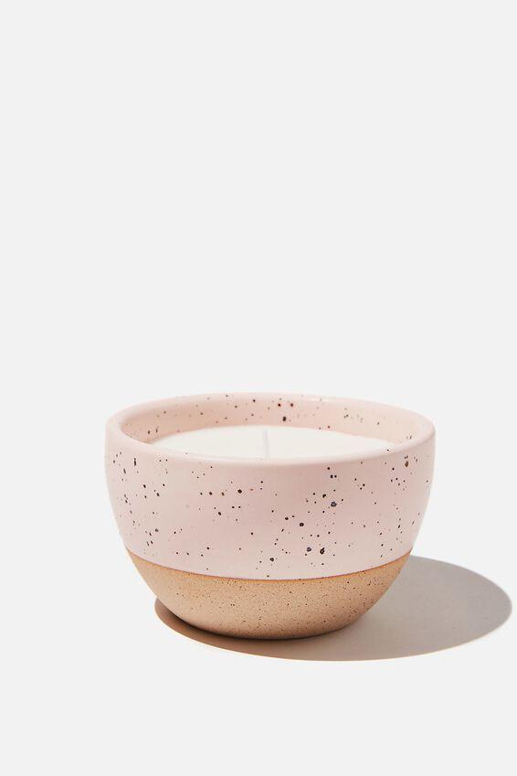 Stoneware Candle, PINK