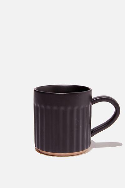 Etched Mug, CHARCOAL