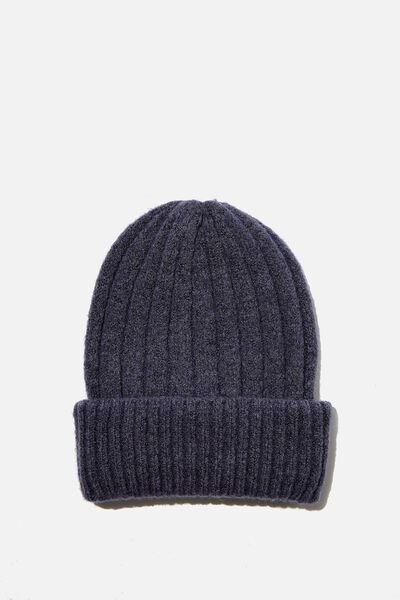 Willa Wide Rib Beanie, GRISAILLE
