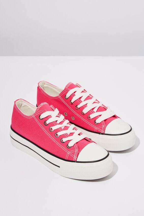 Platform Jodi Low Rise Sneaker, HYPER PINK CANVAS
