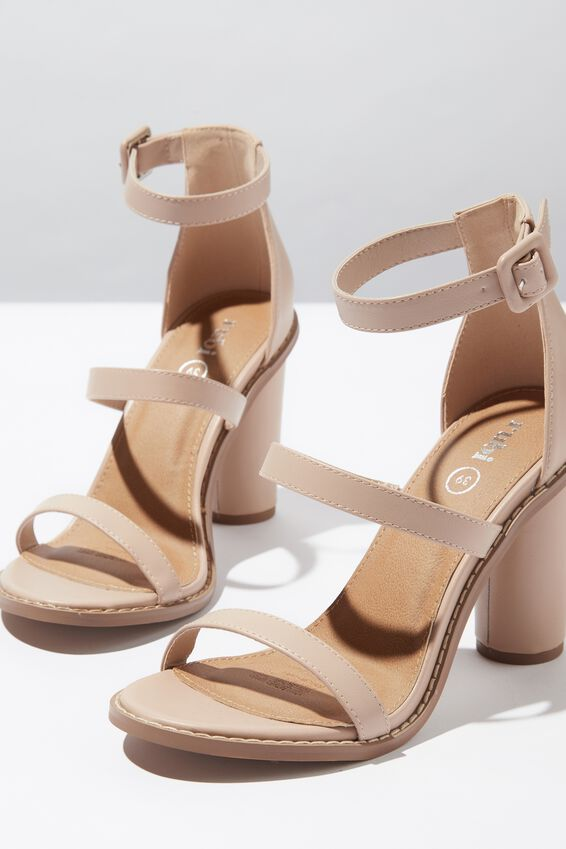 Lily Block Heel, PALE TAUPE NUBUCK