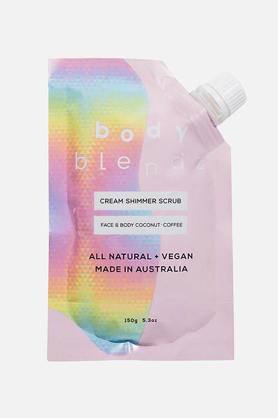 Body Blendz Cream Scrub, COCONUT COFFEE
