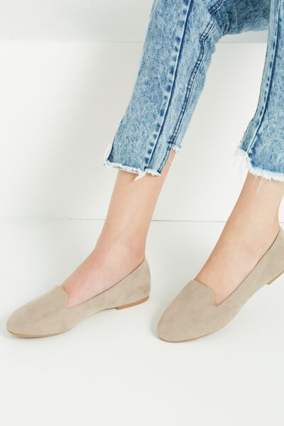 Sophia Slipper, LIGHT TAUPE MICRO
