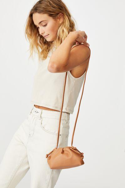 Cara Mini Cross Body Bag, TAN
