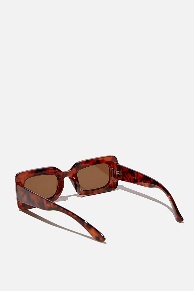 Gigi Square Sunglasses, TORT