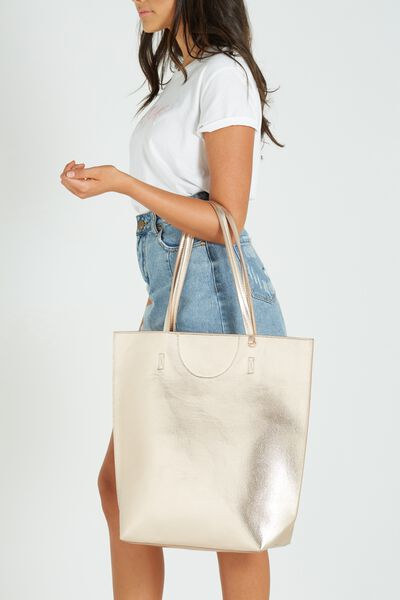 Textured Essential Tote, ROSE GOLD