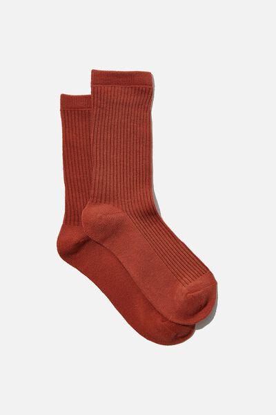 Everyday Rib Sock, CHUTNEY