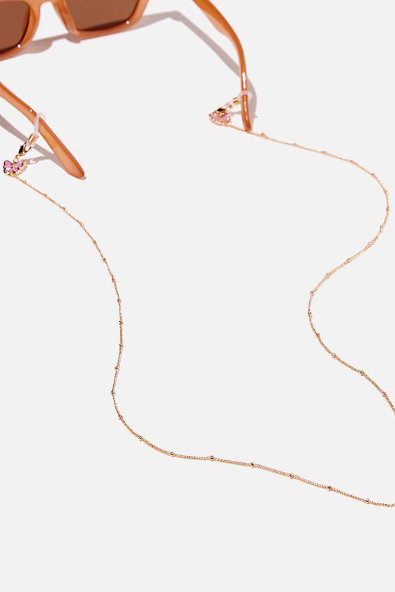 Ava Glasses Chain, ENAMEL BUTTERFLY