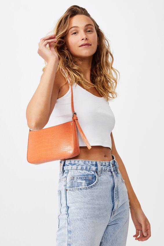 Lexi Underarm Bag, SUMMER TANGERINE TEXTURE