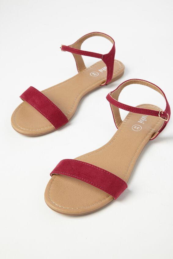 Everyday Thin Strap Sandal, RASPBERRY MICRO