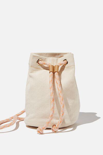 Day Tripper Bucket Bag, NATURAL