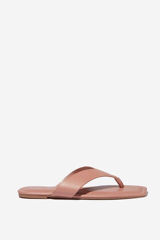 Everyday Molly Toe Post Sandal, ROSE PU