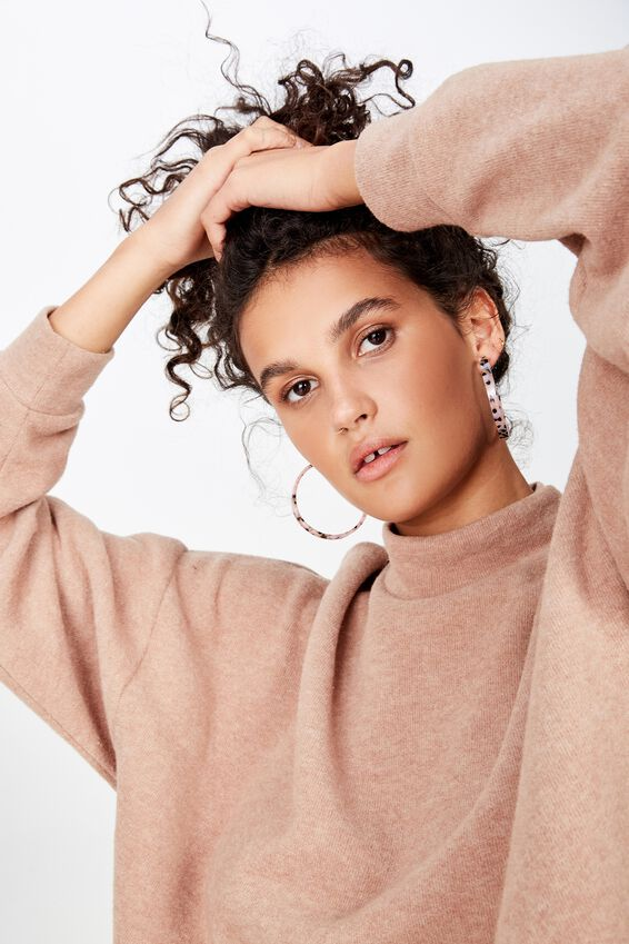 Savannah Tort Earring, CRYSTAL PINK