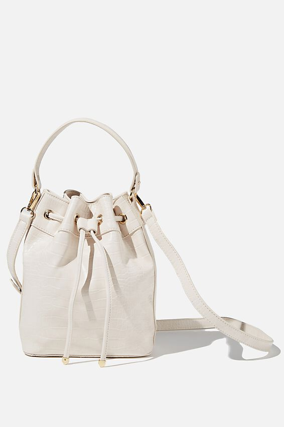 Bella Bucket Bag, ECRU TEXTURE
