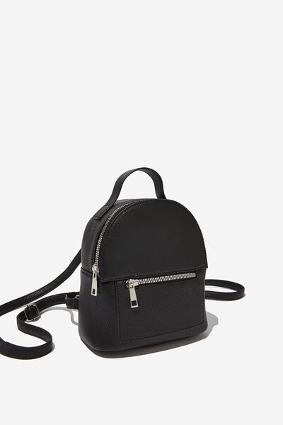 Cara Mini Backpack, BLACK PEBBLE