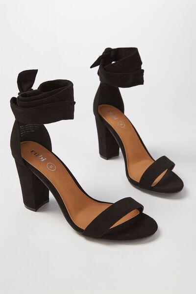 San Monroe Tie Up Heel, BLACK