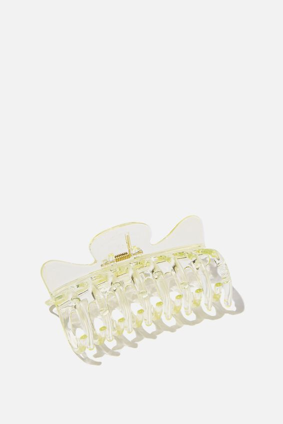Kiley Hair Claw, TRANSPARENT LIME