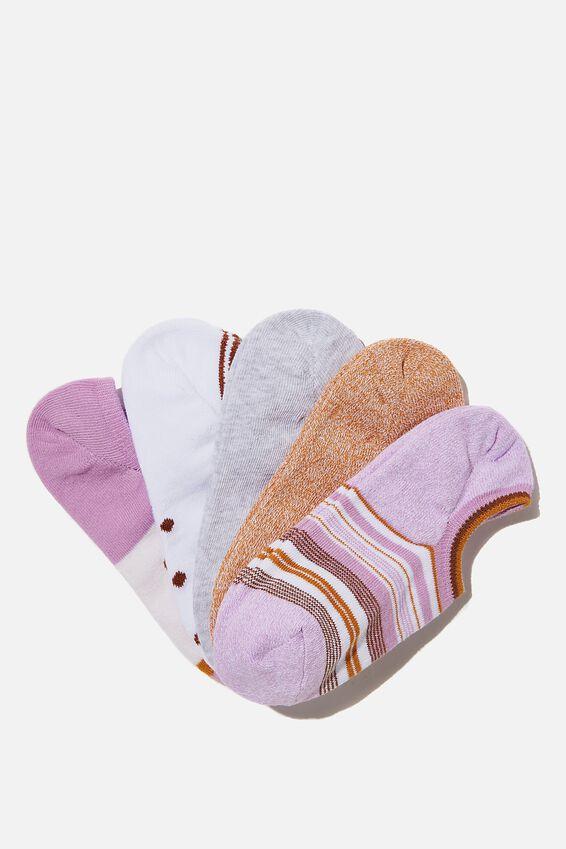 5Pk Sports Low Cut Sock, LOTTI MIX
