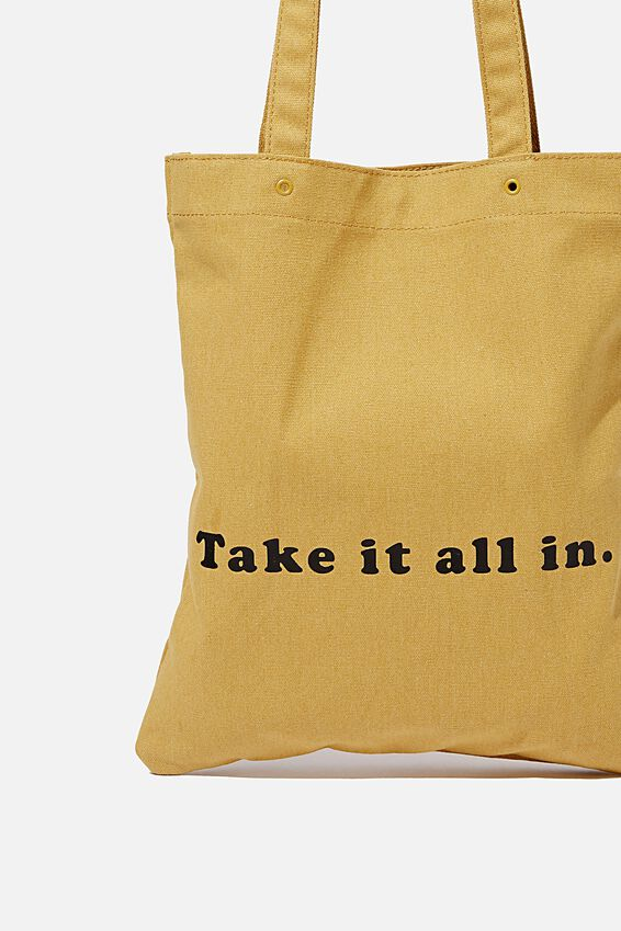 Take It All In Tote, MUSTARD
