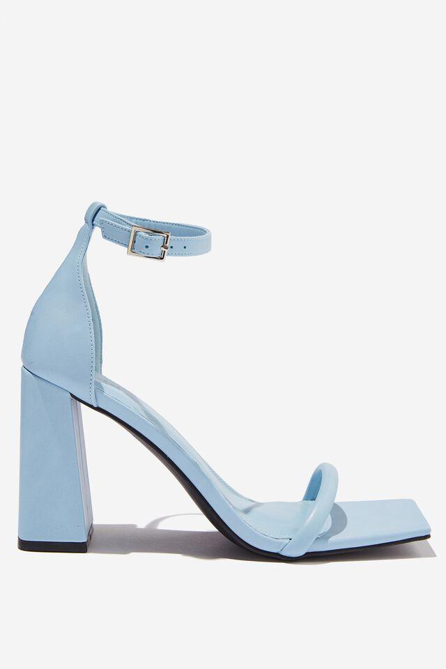 Quinn Block Heel, BLUE PU