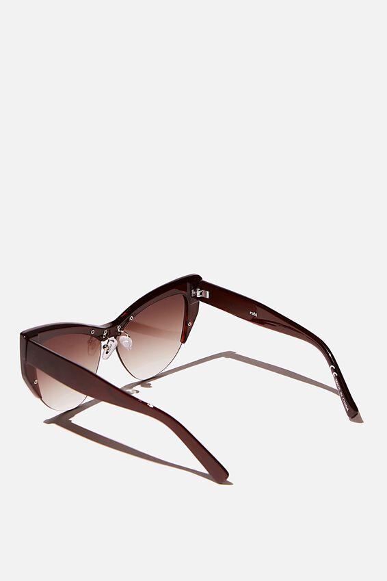 Ash Sports Cateye Limited Edition Sunglasses, CHOC