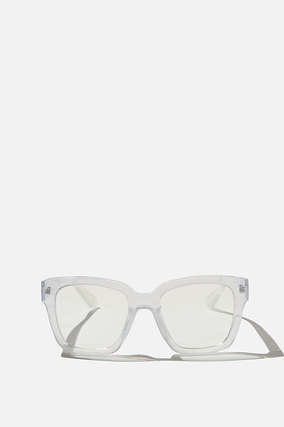 Emma Blue Light Blocking Glasses, CLEAR CRYSTAL