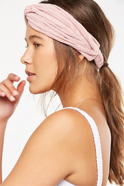 Manhattan Headband, BLUSH PLEAT