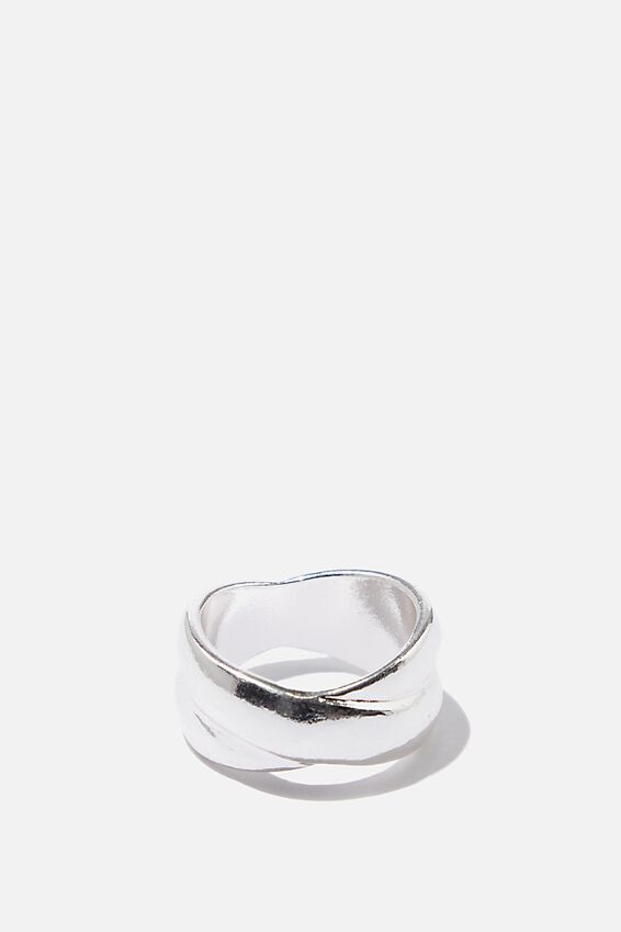 Luxe Layers Kissing Ring, SILVER