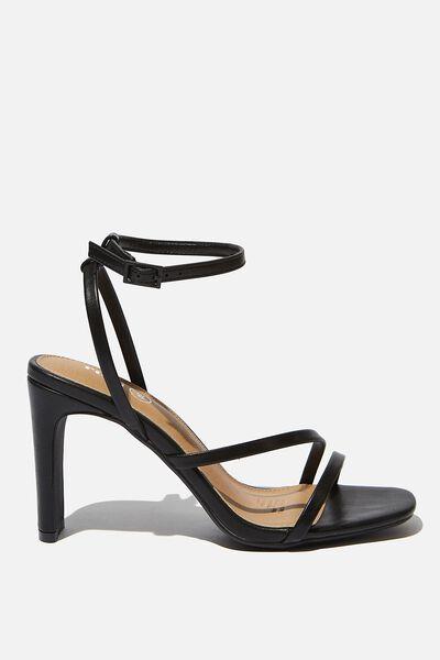 Lorinda Strappy Heel, BLACK