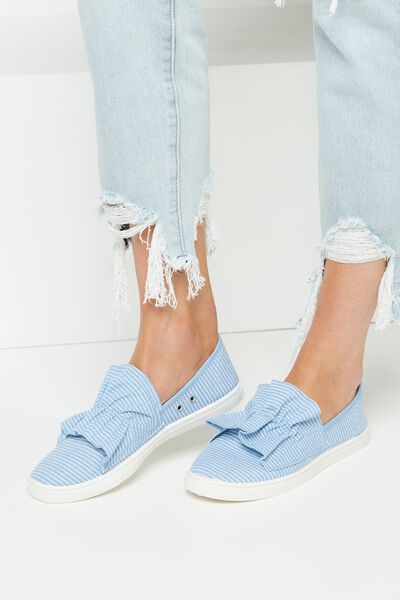 Hazel Frill Slip On, SHIRTY STRIPE