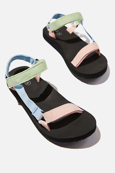Stormy Sporty Sandal, SOFT COLOUR BLOCK