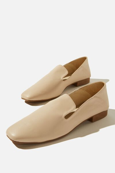 Pacey Structured Slipper, STONE SMOOTH PU