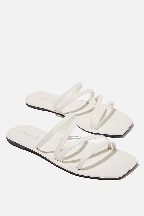 Natalie Strappy Sandal, WHITE PU