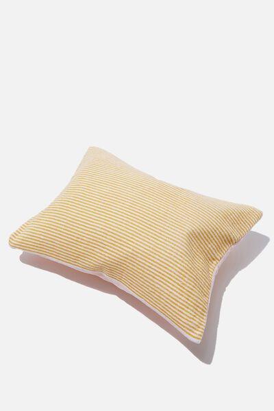 Bells Beach Pillow, CORAL PINSTRIPE