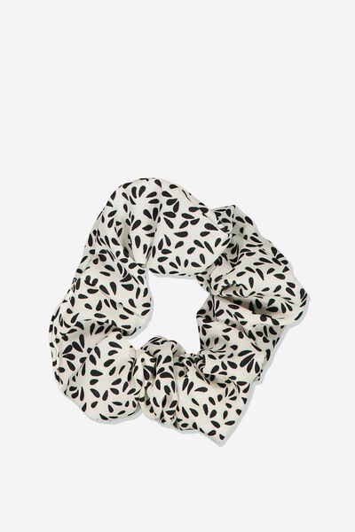 So Me Scrunchie, WHITE TEARDROP SPOT