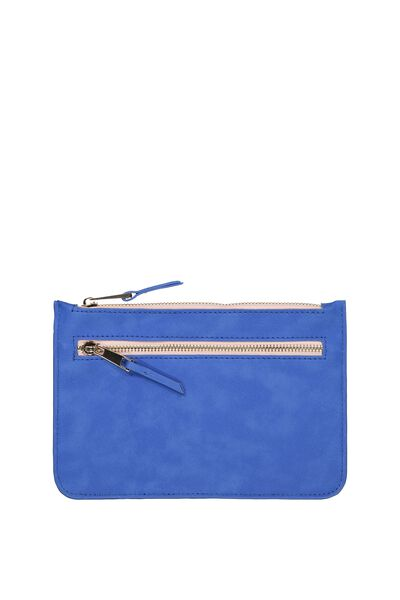 Queens Clutch Purse, CHAMBRAY BLUE/NUDE