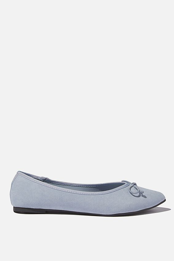 Essential Evelyn Point Ballet, SOFT BLUE MICRO