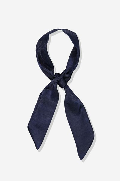 Hair Ribbon, NAVY SATIN